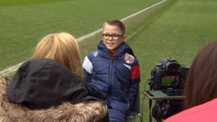Bristol City ball boy Jaden 'dizzy' after win against Man United