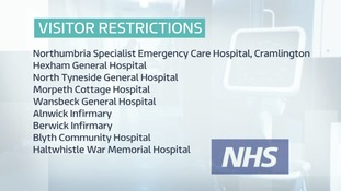 Nine hospitals have restrictions