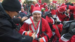 Eddie raised almost £5,000 doing a 5k Santa Dash.