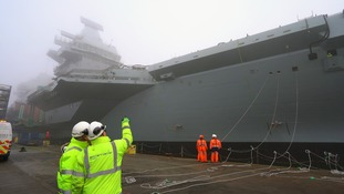 Crew and engineers from the Aircraft Carrier Alliance monitored the process throughout