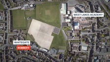 The incident happened on Whitegate in Egremont, near West Lakes Academy