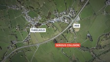The collision happened on the A66 near Threlkeld