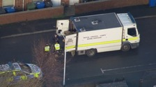 The Army Bomb Disposal Unit has carried out a controlled explosion of material found at a chip shop in Chesterfield.