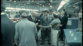 The Prince of Wales visiting Longbridge in 1985