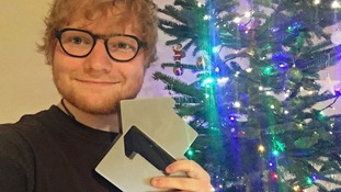 Ed Sheeran celebrates end of 2017 with Christmas number one single