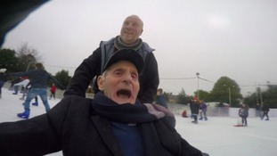 RAF veteran, Jack Mugridge went ice skating fro his 97th birthday.
