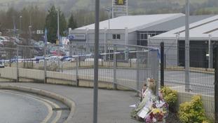 Flowers have been laid at the Aldi store in Skipton in North Yorkshire
