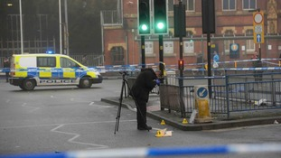 The scene where the fight happened in Walsall town centre