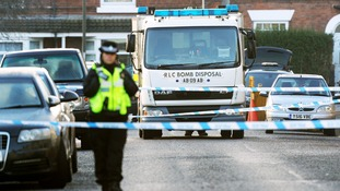 Terror police complete search at Chesterfield property