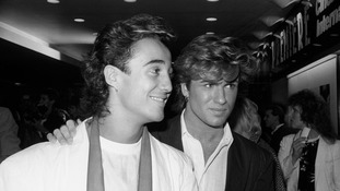 Andrew Ridgeley and George Michael in 1984