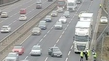 There are delays on the M1 northbound because of a crash near Luton.