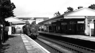The station pictured back in 1960.