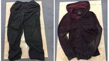 The clothing the man was wearing when he was found.