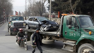 Kabul suicide bombing: At least six killed in attack near Afghan intelligence office