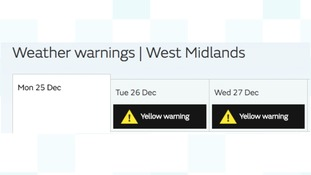 Warnings of snow for Boxing Day and beyond