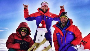 Cumbrian climber sends season's greetings from Antarctica