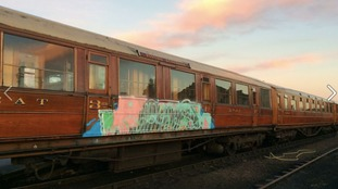 Historic train carriages vandalized over Christmas