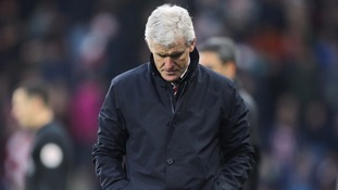 Pressure mounts on Stoke manager Mark Hughes after his side failed to beat Huddersfield in relegation battle showdown