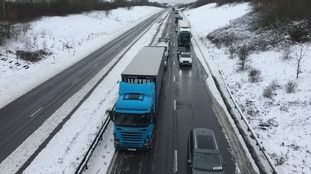 The A14 in Northamptonshire was at a standstill.