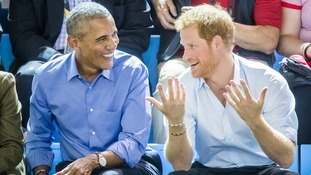 Prince Harry interviewed Barack Obama for BBC Radio 4's Today programme.