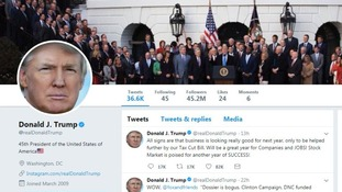 President Donald Trump regularly uses Twitter.