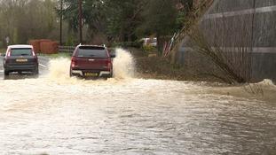 Flooding at Scarning near Dereham in Norfolk.