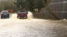 Flooding at Scarning near Dereham in Norfolk.