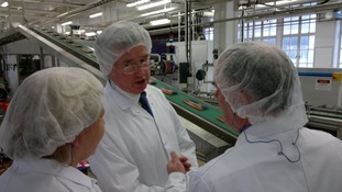 Michael Fallon MP at Cadbury in Bournville