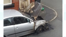 The damaged Seat Ibiza