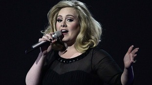 Adele at the Brit Awards last year