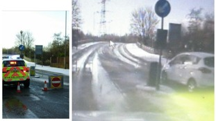 Greater Manchester Police issued a ticket to this driver who ignored the closure in Farnworth