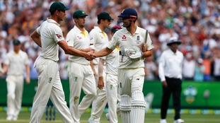 Cook was congratulated by all the Australian players at stumps.
