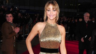 Jennifer Lawrence arrives at the premiere of The Hunger Games in London last year