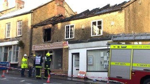 Fire crews work through the night to tackle a blaze in Crewkerne