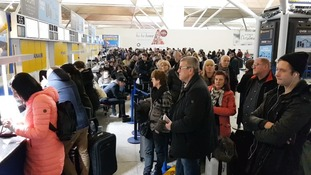 Hundreds of passengers have remained stuck at the terminal despite normal service resuming.