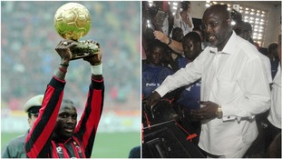 George Weah: Liberia president victory for football legend