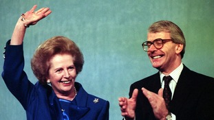 Margaret Thatcher fell out with John Major.