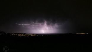 Torbay was lit up by lightning in the early hours of this morning.
