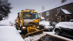 Affetside on the outskirts of Bury have had the snow plow clearing the road