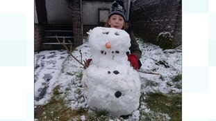 """Leah Muir enjoying the snow"""