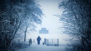 Snow Hardwick Hall by Simon McCabe