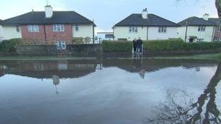 Plymouth family 'virtually trapped' inside house by flooding