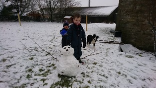 """Jimmy and Robert enjoying the snow in Ravenstonedale"""