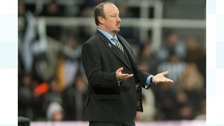 Rafa Benitez during Wednesday night's match at St James' Park.