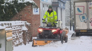 A plough helped clear Ripon roads.