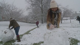 It was great weather for making giant snowballs in Ripon.