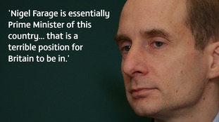 Speaking to ITV News, Lord Adonis said the government was putting the country at risk of becoming akin to the National Front.
