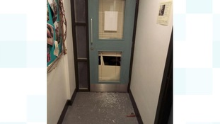 Damage caused to classrooms