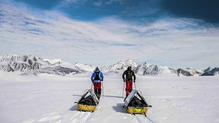 Father and son embark on historic Antarctic adventure