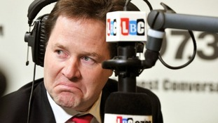 Nick Clegg faced some tough questions on his 'Call Clegg' radio phone-in